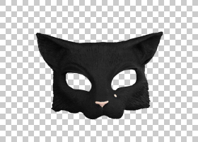猫卡通,黑猫,头盔,黑色,黑色M,鼻部,遮罩,猫,胡须,