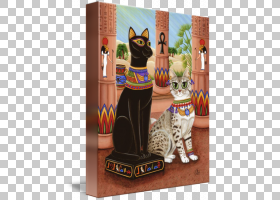 猫卡通,玩具,小雕像,埃及,猫,ISIS,水彩画,埃及人,帆布印花,画布,