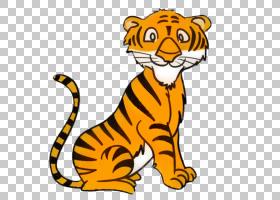 猫卡通,尾巴,野生动物,黄色,动物形象,动画片,咆哮,老虎,