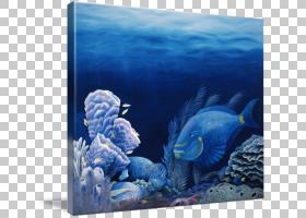 珊瑚礁背景,礁石,水下,石珊瑚,绿海龟,绘画,帆布印花,鱼,菌核菌,