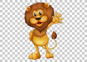 猫卡通,微笑,吉祥物,动画片,咆哮,咆哮着,狮子,