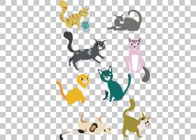 猫卡通,动画片,动物形象,黄色,贴纸,尾巴,显示猫,黑猫,猫,小猫,