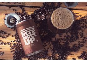 咖啡易拉罐外观包装智能样机素材