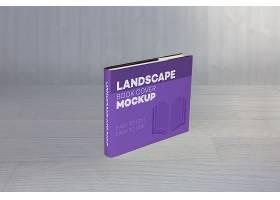 高清创意简约风现实风景书的封面样机设计模板