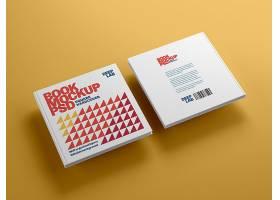 高档大气简约风格方书精装样机封面设计素材