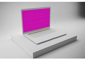 笔记本电脑屏幕展示智能样机