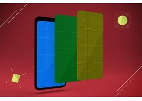 智能手机与屏幕界面外观展示样机素材