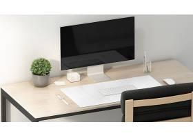 高清简约风可自定义的工作区模型办公桌背景素材