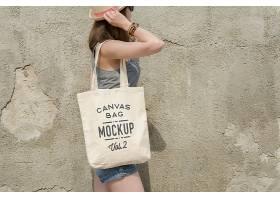 高档时尚潮流帆布包包包样机T恤运动服彩色T恤设计样机