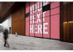 户外大型墙体广告智能样机