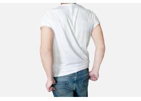 高清简约风元素男士圆领T恤样机设计模板