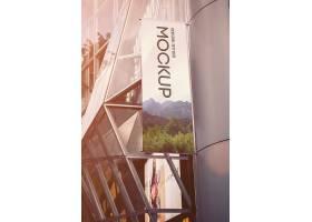 高档大气简约风室内吊旗彩旗设计模板
