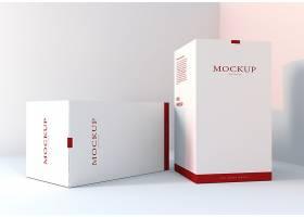高档简约现实的包装盒模型