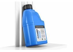 高清用于液体顶视图样机的塑料罐