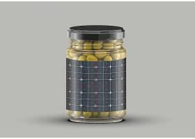 玻璃罐头包装智能样机素材