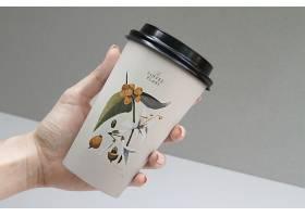 咖啡纸杯包装样机素材