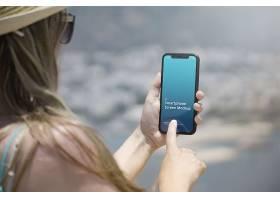高清简约风手机样机夏天的场景界面设计