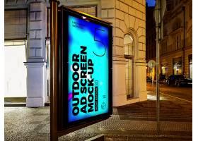 高清創意戶外廣告牌廣告海邊度假城市樣機海報設計模板