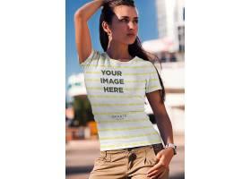 高清时尚潮流元素t恤模拟城市风格设计素材
