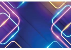 炫彩渐变个性线条光影光晕图形元素矢量背景