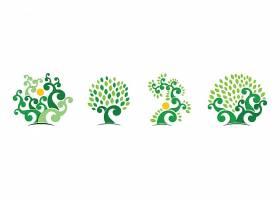 绿色树木标识