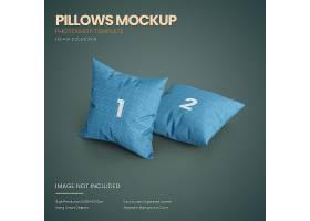创意简约风抱枕枕头海报设计背景素材