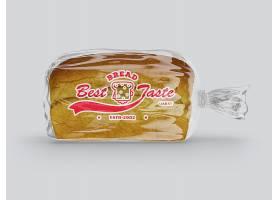 透明面包饼干塑料袋PSD样机