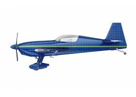 飞机外观贴图贴纸智能样机素材