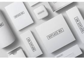 高档创意品牌形象场景VI样机设计