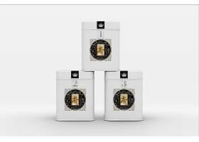高档大气简约风茶叶铁罐包装样机设计