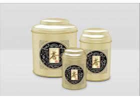 高檔大氣簡約風茶葉鐵罐包裝樣機設計