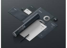 高档大气企业品牌样机品牌文化设计素材