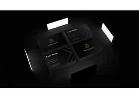 高档大气稳重黑色名片卡片PSD样机