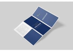 高档大气简约商务风A4三折小册子样机设计模板素材