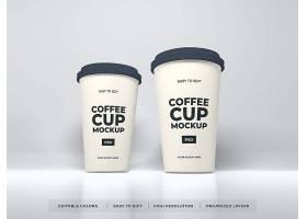 简约风现实纸咖啡杯样机PSD