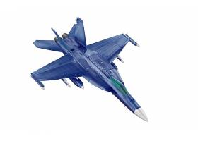 高档蓝色战斗机样机包飞机模型
