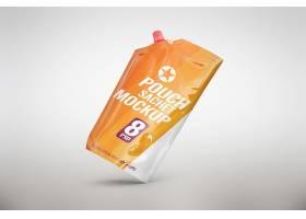 便携式吸嘴袋产品外观展示智能样机