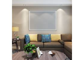 现代简约时尚客厅室内设计效果图