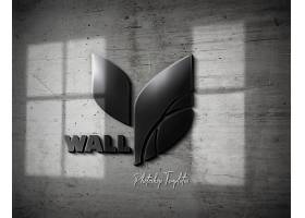 logo立体墙体效果样机