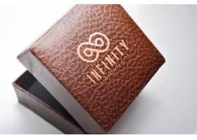 礼物盒子logo样机