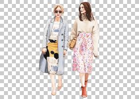 时尚女性主题时尚插画免扣素材图片