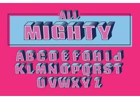 3D大气立体英文字母