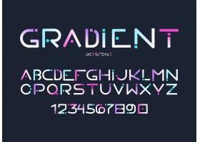 彩色个性英文字母素材