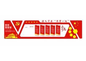 红色深入开展两学一做文化墙展板