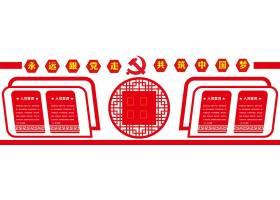高档党员活动室党建文化墙展板