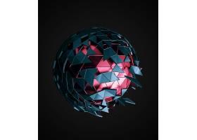 球体形状晶格科技背景