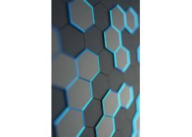创意拼接晶格科技背景