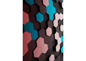 彩色碎片晶格科技背景