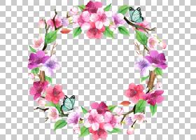 花卉边框花圈免扣元素图片