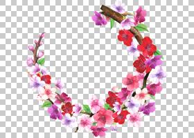 花卉边框免扣元素图片
